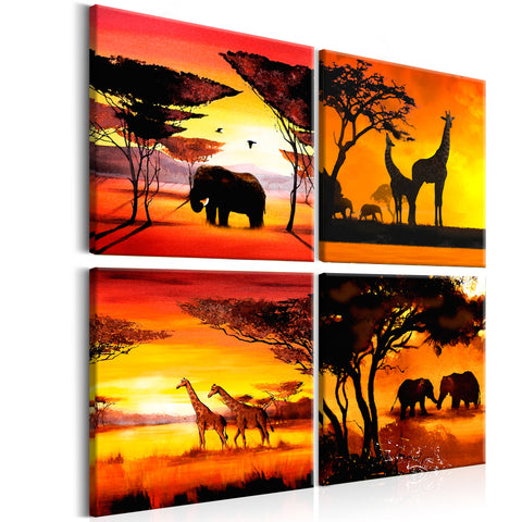 Tableau - African Animals (4 Parts)