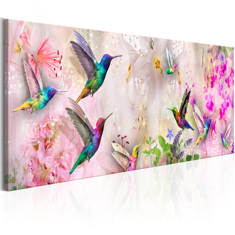 Tableau - Colourful Hummingbirds (1 Part) Narrow