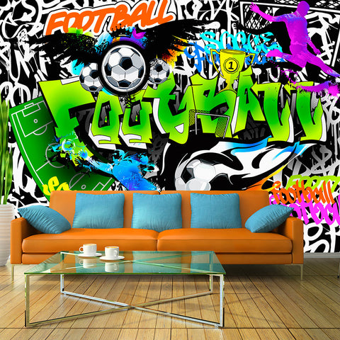 Papier peint - Football Graffiti