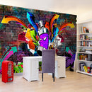 Papier peint - Graffiti: Colourful attack