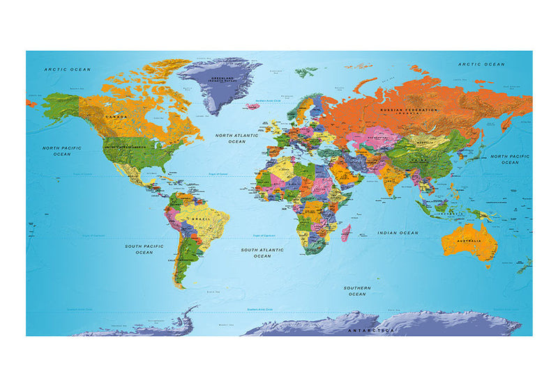 Papier peint XXL - World Map: Colourful Geography II