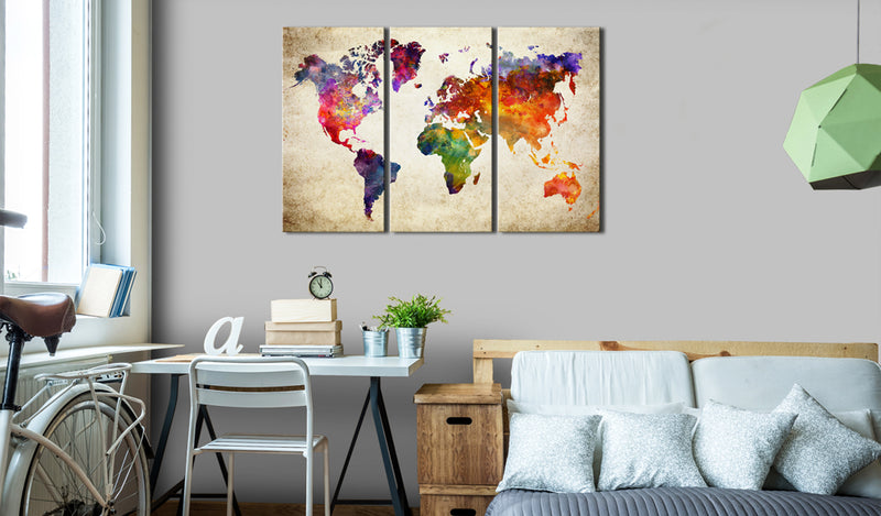Tableau - The World's Map in Watercolor