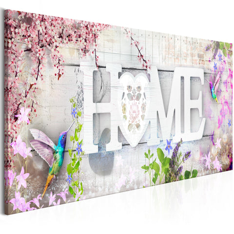 Tableau - Home and Hummingbirds (1 Part) Pink Narrow