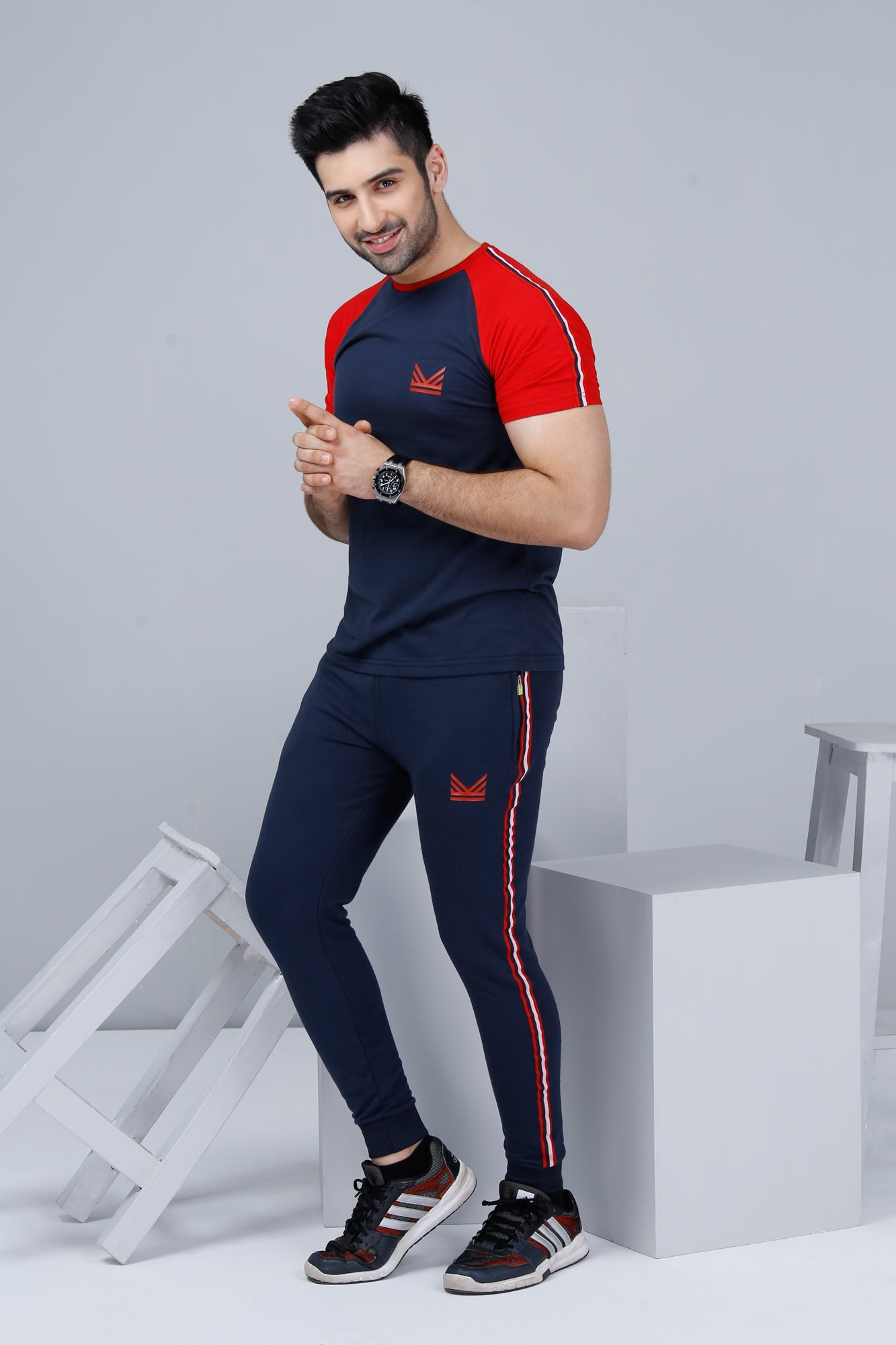 TH Athletic Twinset - Red/Navy