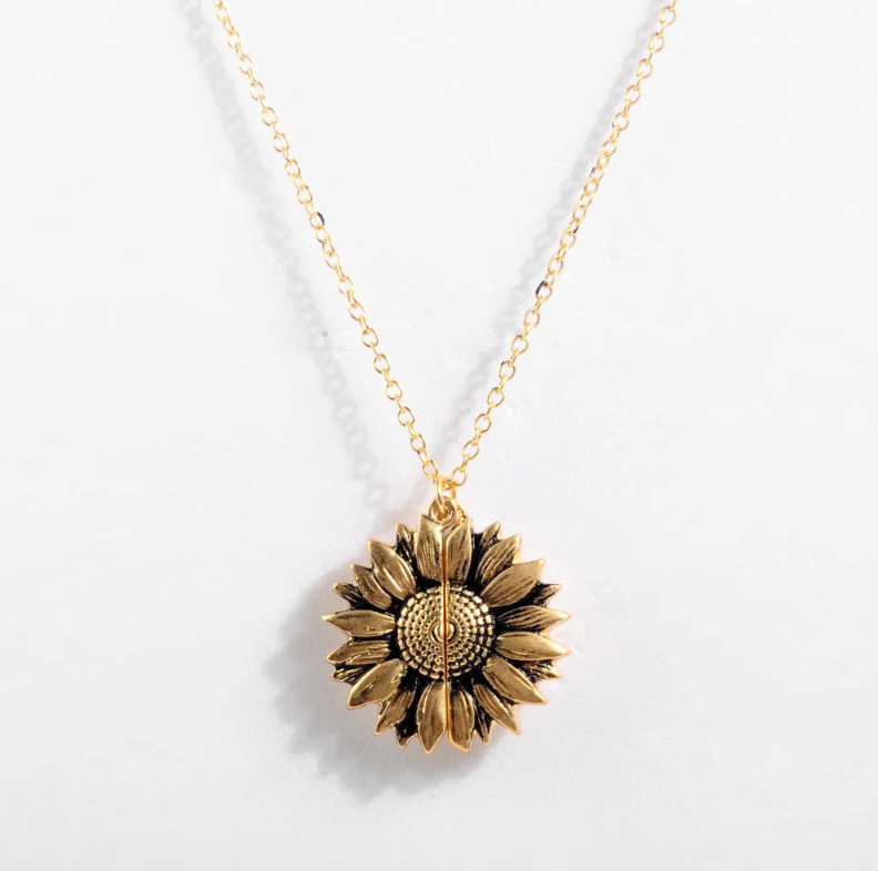 """You Are My Sunshine"" Sunflower Necklace - Limited Edition"