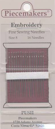 Piecemakers Embroidery Fine Sewing Needles Size 8