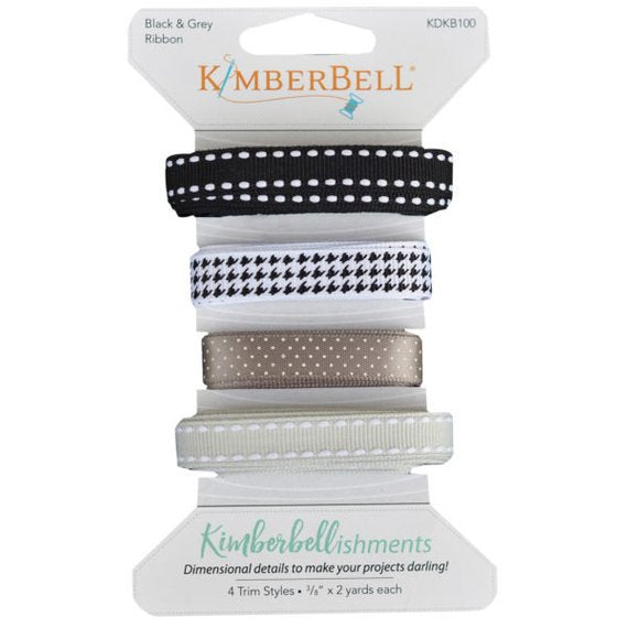 Kimberbell Black & Grey Ribbon