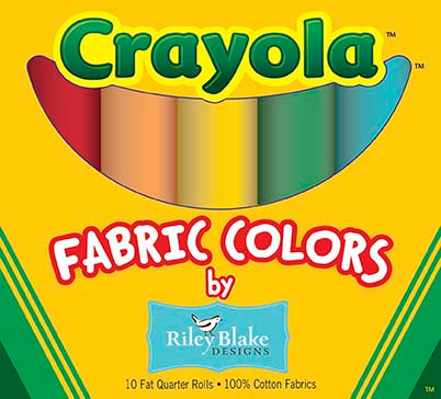 Crayola Fabric Colors - 10 Fat Quarter Rolls