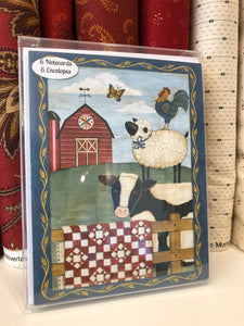 Sew Noted Cow and Farm Animals