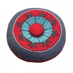 Circles & Stitches Wool Pincushion
