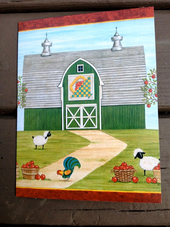 Sew Noted Green Barn