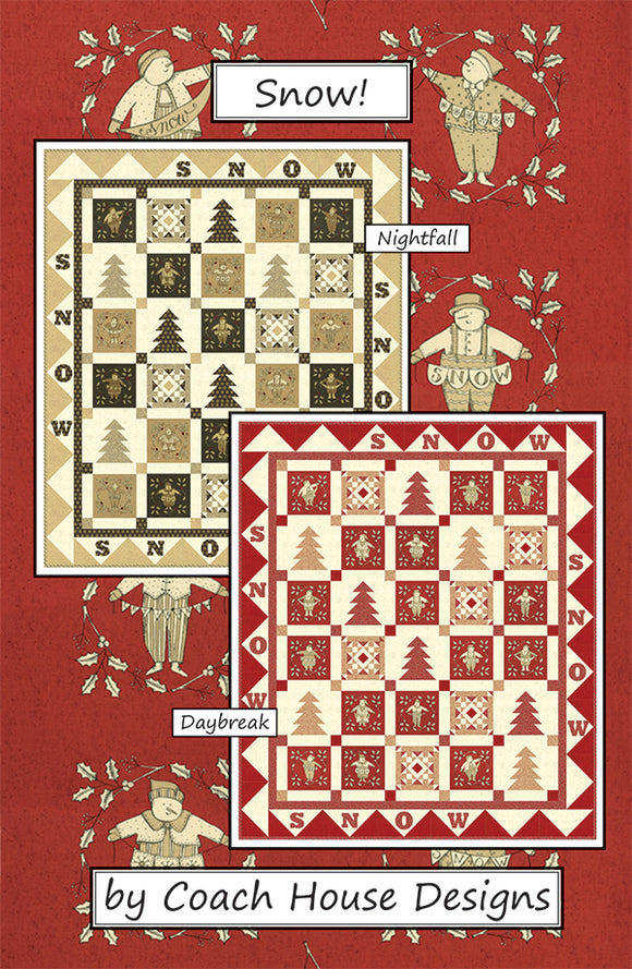 Snow! Nightfall Quilt Kit (Black & Gold)
