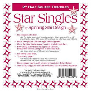 "Star Singles 1"" Half Square Triangles"