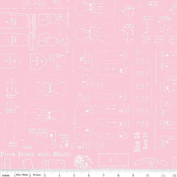 WB6421 Pink Bee Backings and Borders