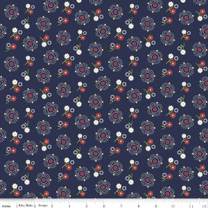 C5900 Navy Gingham Girls