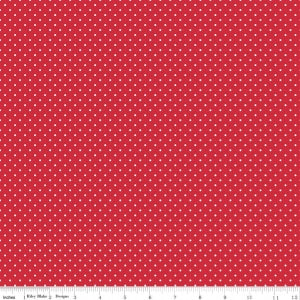 C670-80 Red Swiss Dot Red