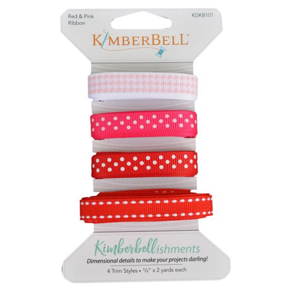 Kimberbell Red & Pink Ribbon