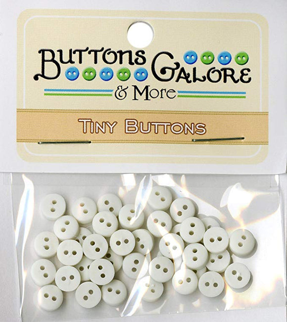 Buttons Galore & More Tiny Buttons White
