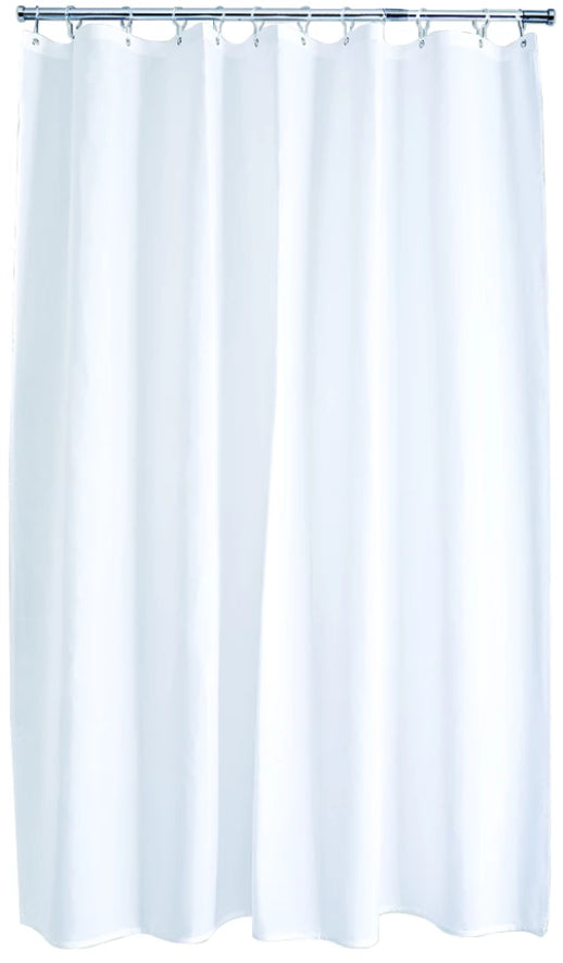 White Polyester Shower Curtain