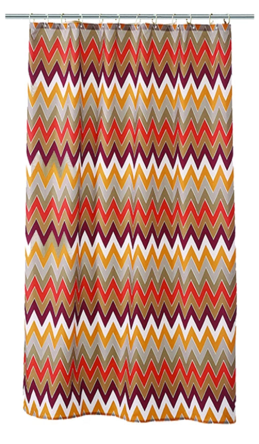 Fall Zig Zag Shower Curtain