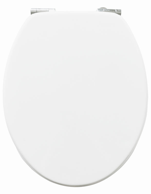 Solid Wood White Toilet Seat