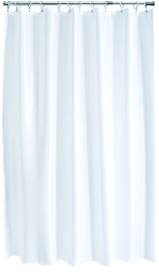 White Solitaire Shower Curtain