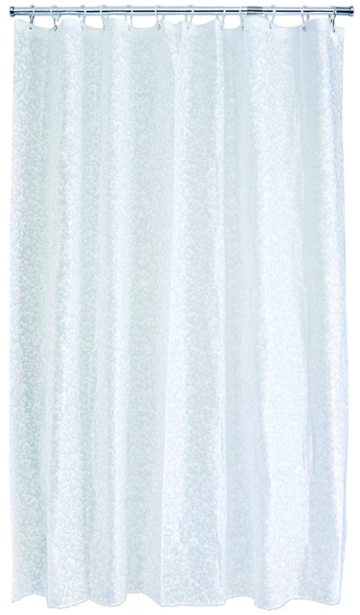 Fizz White Shower Curtain