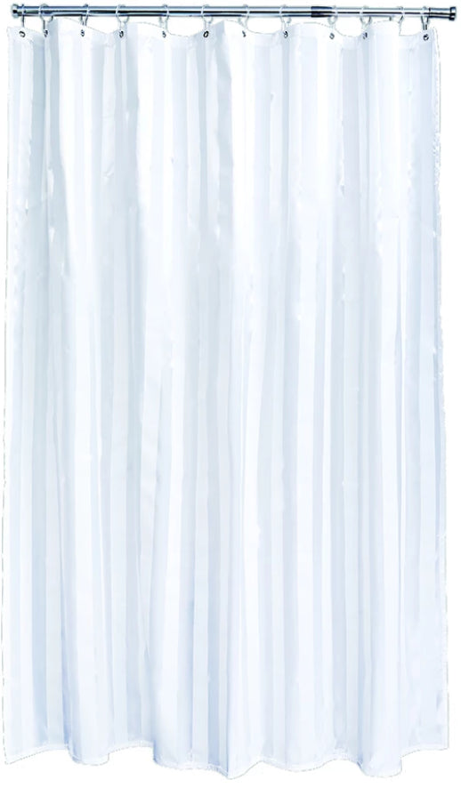 White Oxford Shower Curtain