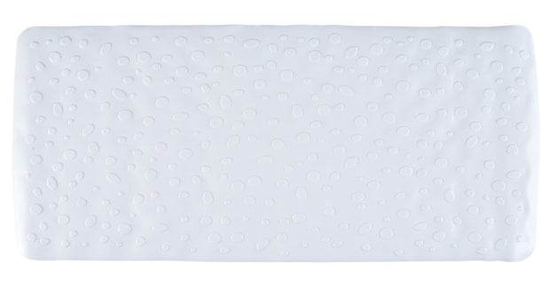 White Contemporary Bath Mat