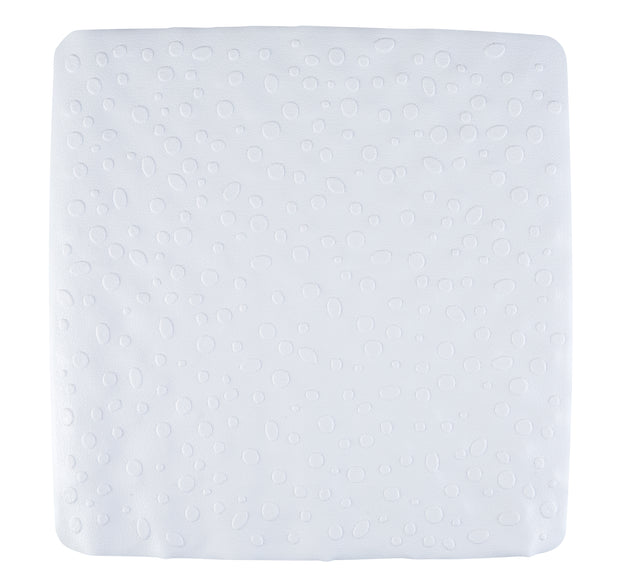 White Contemporary Shower Mat