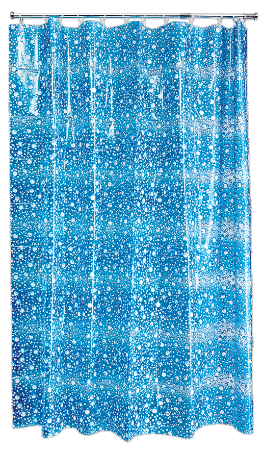 Fizz Blue Shower Curtain
