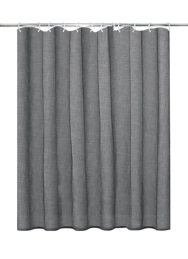 Slub Grey Shower Curtain