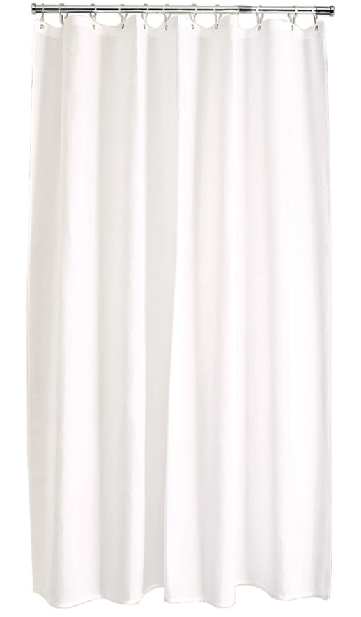 Cream Polyester Shower Curtain