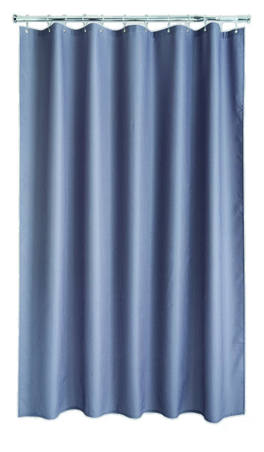 Grey Waffle Shower Curtain