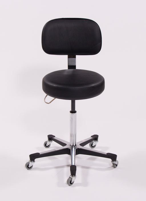 5 Leg Pneumatic Exam Stool - 1210BLK-Blickman
