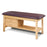 1300-27 Flat Top Classic Series Treatment Table with Shelf and Two Drawers