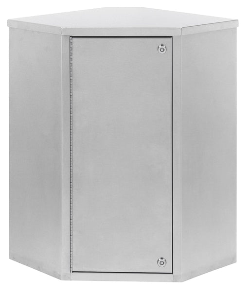 "Corner Double Door Narcotic Cabinet (24""H X 22.8""W X 15.6""D)-Omnimed"