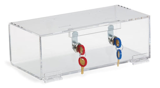 Double Lock Clear Acrylic Refrigerator Lock Box-Omnimed