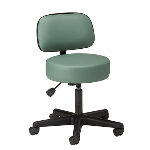 2135-21 Black Base  5-Leg Pneumatic Stool with Backrest