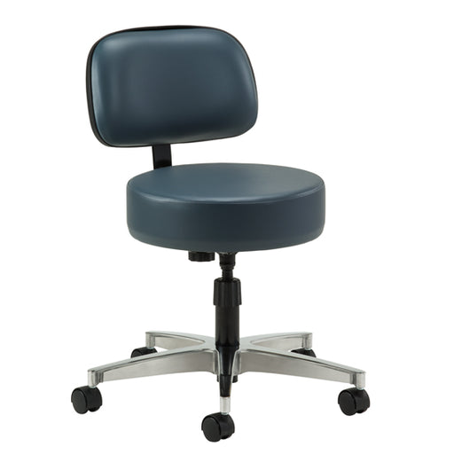 2150-21 5-Leg Spin-Lift Stool with backrest