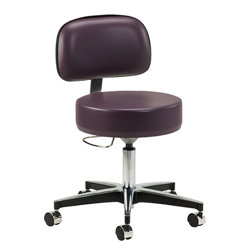2156-21 5-Leg Pneumatic Stool with Backrest