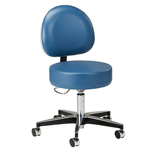 2156-31 5-Leg Pneumatic Stool with D-shaped Backrest