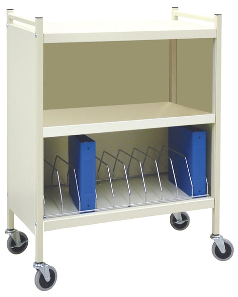 Economy Closed Style Chart Rack (Wired Dividers)-Omnimed