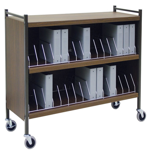 Extra Wide Cabinet Style Chart Rack (Wired Dividers)-Omnimed