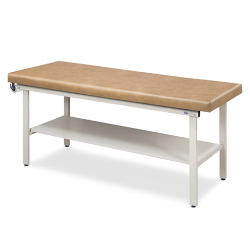 3200-27 Flat Top Alpha-S Series Straight Line Treatment Table with Full Shelf