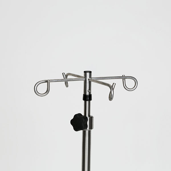 Chrome 6-leg spider IV Pole-MidCentral Medical