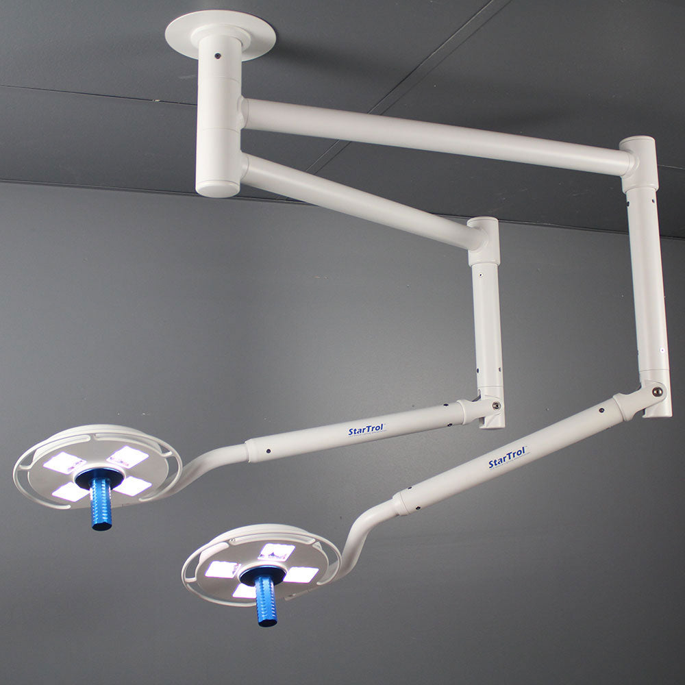 Galaxy 4×4 Dual Ceiling Mounted Surgical Light-StarTrol
