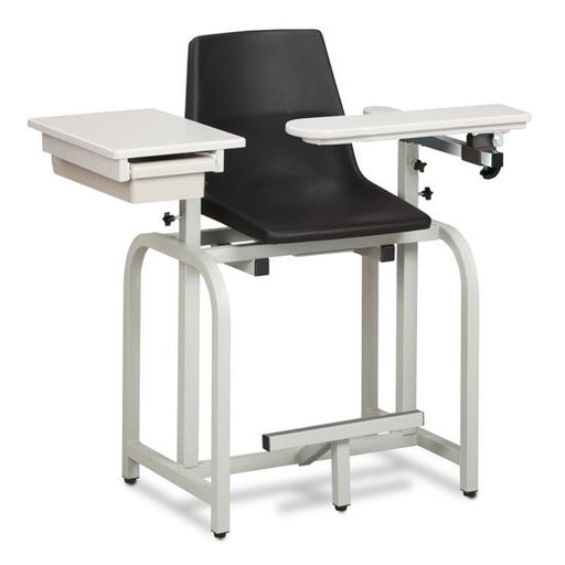 66022-P Standard Lab Series, Extra-Tall,Blood Drawing Chair with ClintonClean Flip Arm and Drawer
