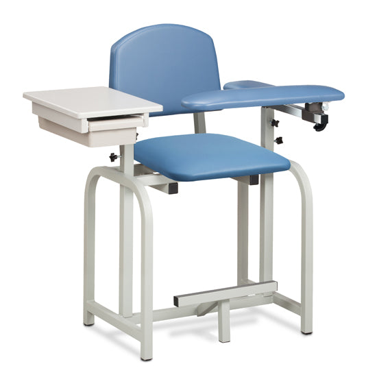 66022 Lab X Series, Extra-Tall, Blood Drawing Chair w/ Padded Flip Arm and Drawer