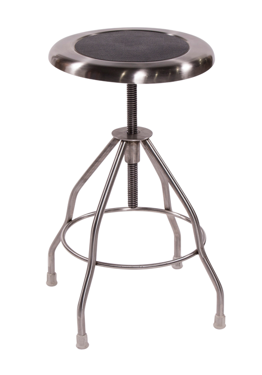 Clifton Stainless Steel Stool-Blickman